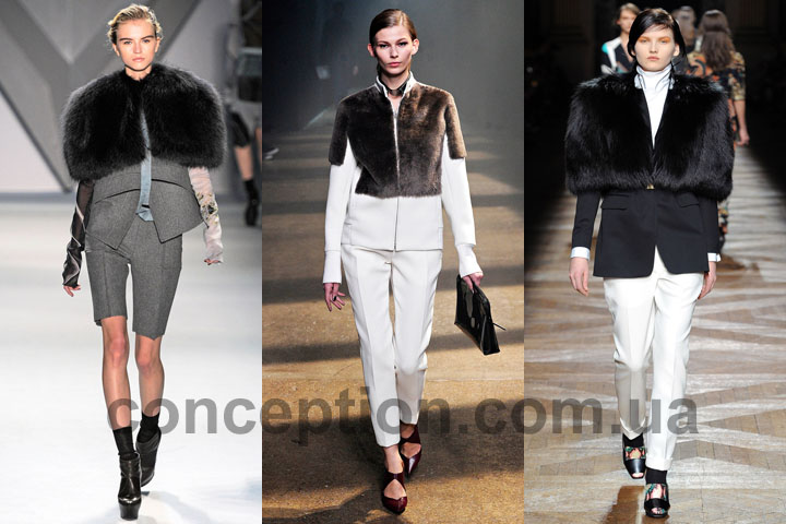 Куртки с мехом 2012 2013 Vera Wang, 3.1 Phillip Lim, Dries Van Noten