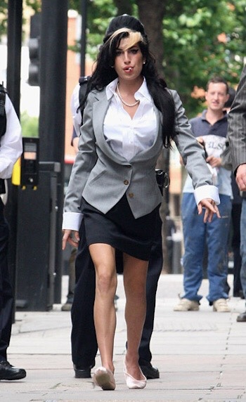 Amy Winehouse and her ballerina flats
